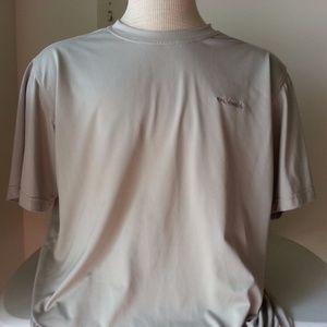 Columbia beige short sleeve shirt - mens large